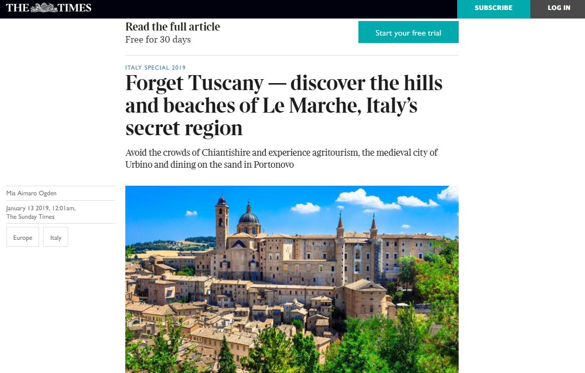"""""""Le Marche: la regione segreta d'Italia"""""""